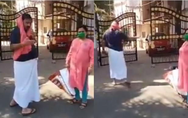 Muslim delivery person