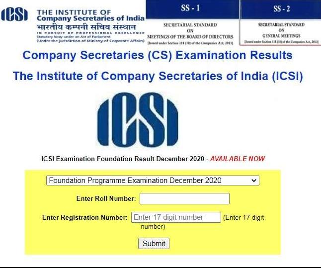 ICSI CS Foundation Result