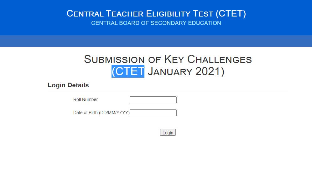 CTET Answer Key 2021